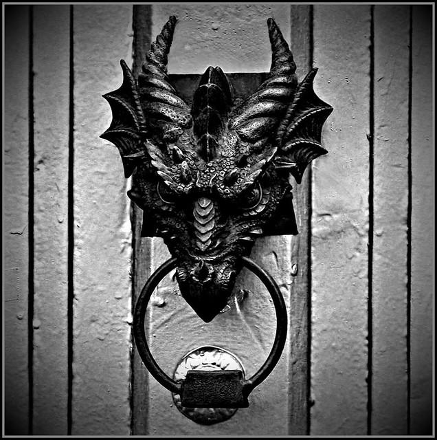 Door Knocker This Is A Rather Scary Door Knocker I Think