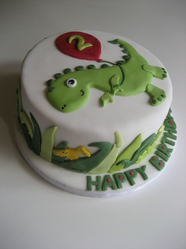 Small Images Of Birthday Cake : Dinosaur birthday cake Flickr - Photo Sharing!