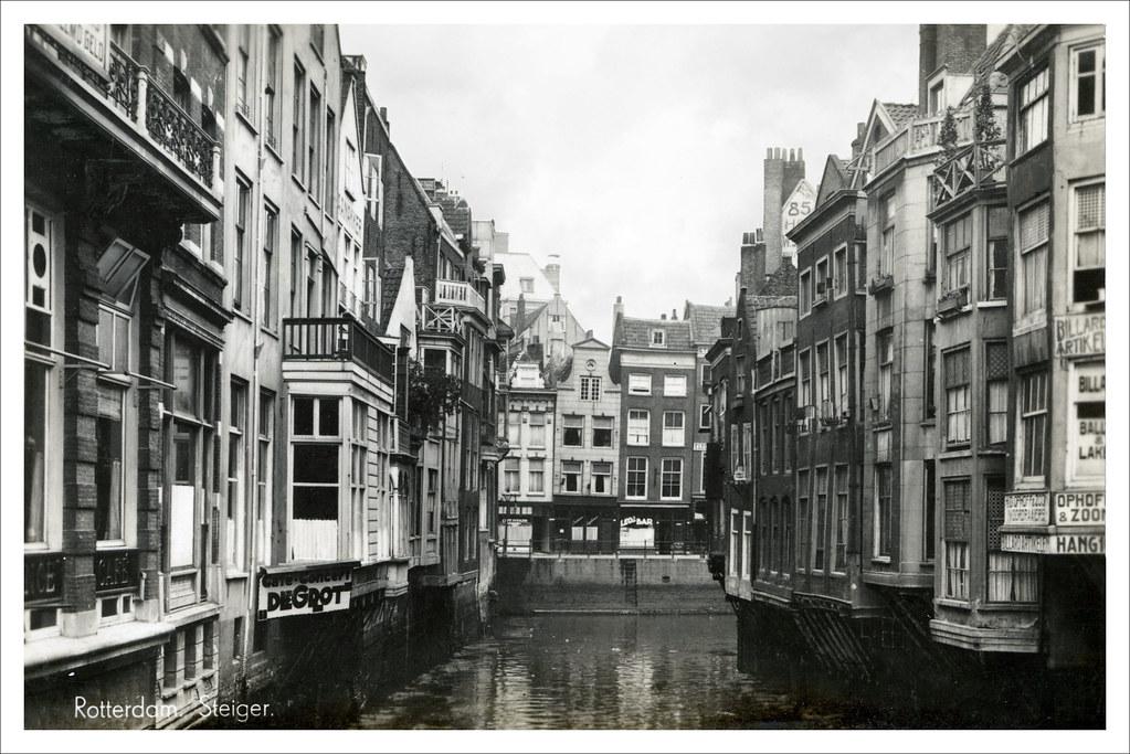Rotterdam Steiger Links De Achterkanten Van De Huizen