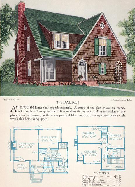 1928 Home Builders Catalog The Dalton