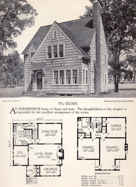 1928 home builders catalog the dunn from the American home builder