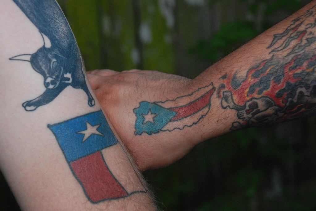 Puerto Rico Flag Tattoos Designs