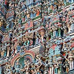Le temple de Meenakshi (Madurai, Inde)