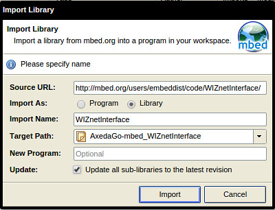 import and update WIZnetInterface