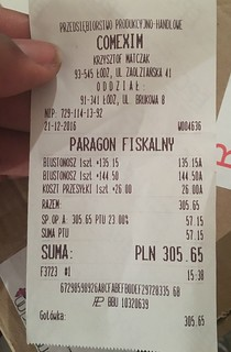 The actual amount I paid was 347.30 pln, not 305.15pln
