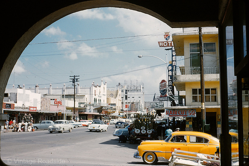 1950 S Tijuana Nice Kodachrome Slide From A Road Trip To
