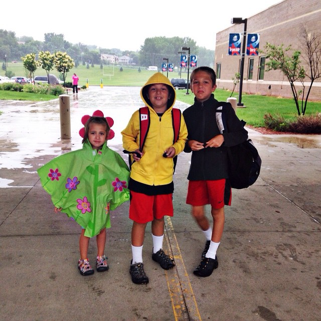 First day of summer program! Two are nervous , one mad. And it's raining! #summer2015 #Bostinelostrio