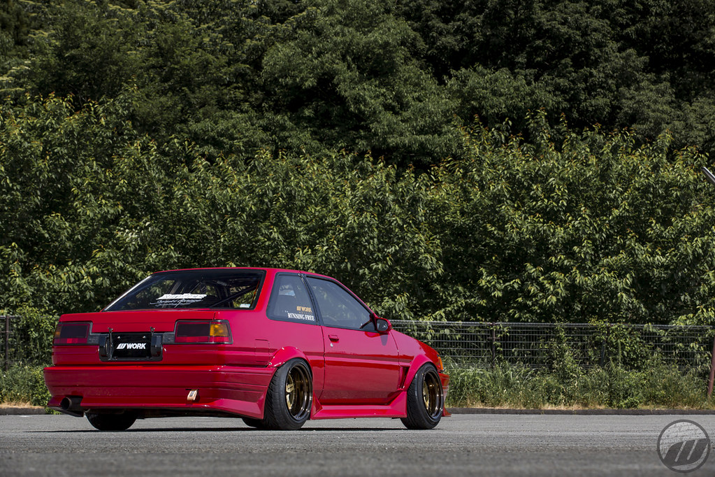 Run Free Toyota Corolla Ae86 On Work Meister Cr01 F 15x9