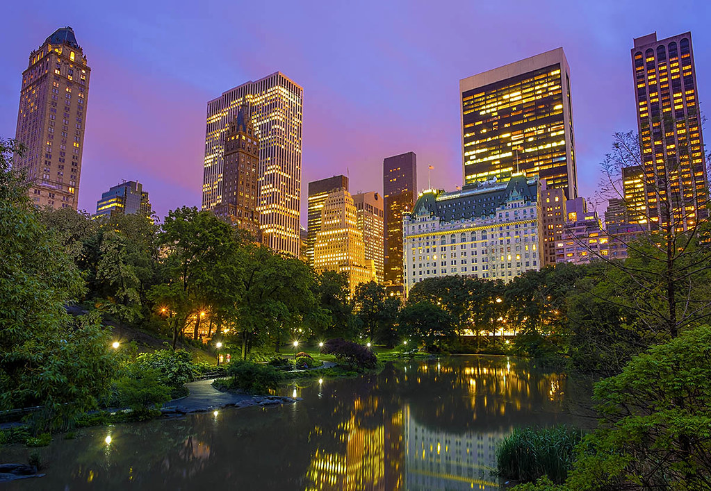 Central Park And The Plaza Hotel Manhattan New York