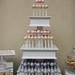 Our three tiered white stand filled with yummy cake pops is a great alternative to a traditional cake