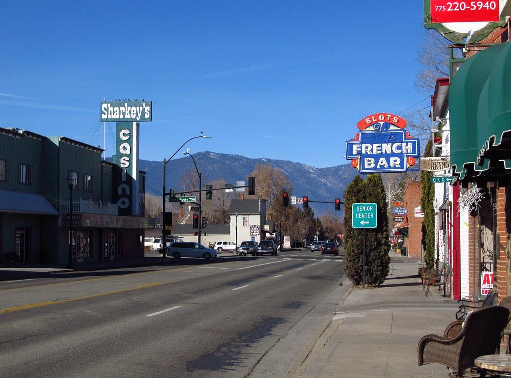 Gardnerville Nevada Us 395 In Downtown Gardnerville