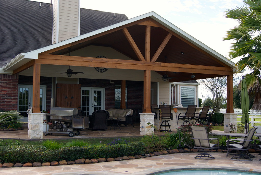 Gable Roof Patio Cover In Remington Trails Katy