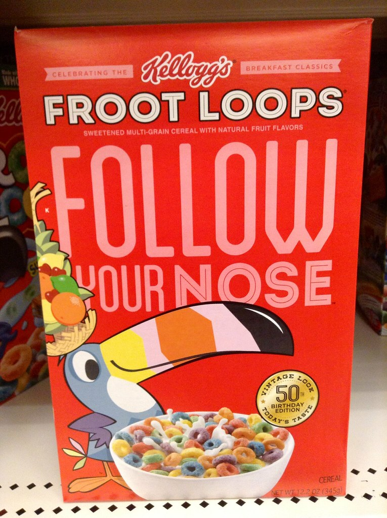 Froot Loops Birthday Cake
