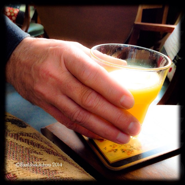 22/2/2014 - act of kindness {weekend mornings my hubby always brings me my juice & coffee} He is a real sweetheart ❤️ #fmsphotoaday #actofkindness #juice #hand #sweet #letterglow #hubby #partner