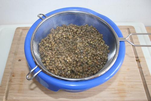 22 - Linsen abtropfen lassen / Drain lentils
