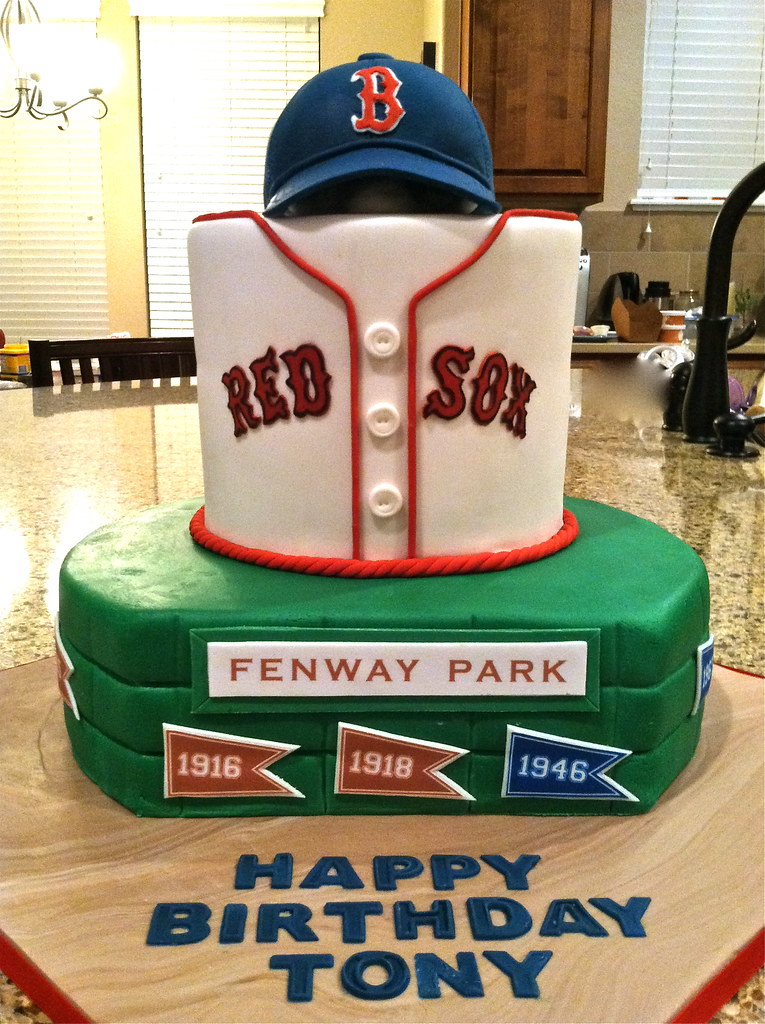 Red Sox Birthday Cake Ideas
