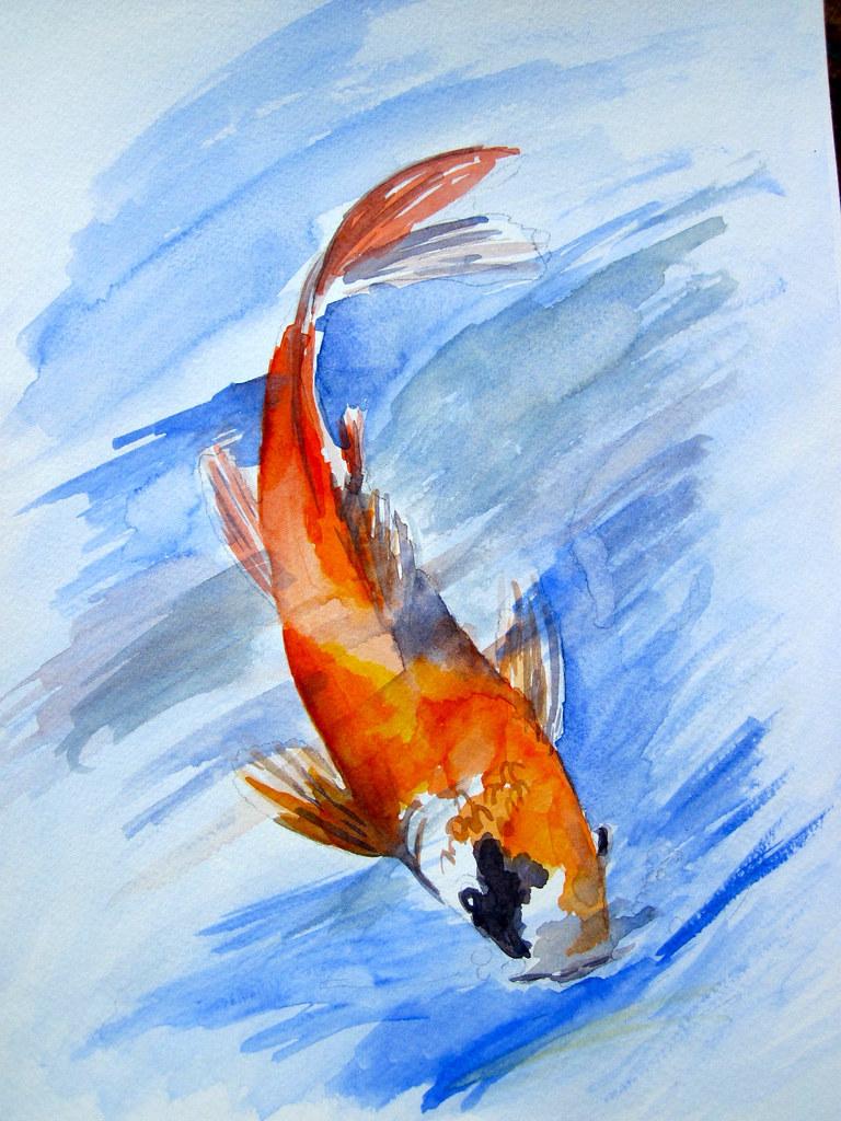 Watercolor Koi Fish Koi fish 1 | I'm takin...