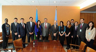 Delegation headed by the minister of youth and sport visited UN HQ | by UNDP Azerbaijan