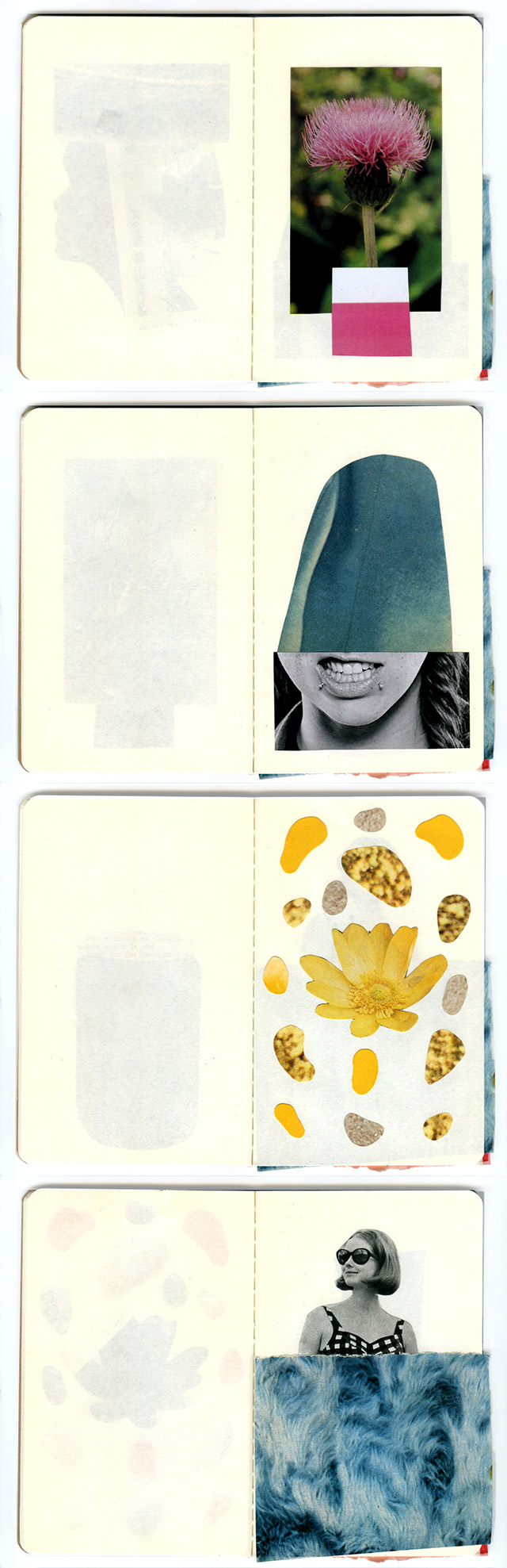 collage sketchbook pages 5-8 by laura redburn