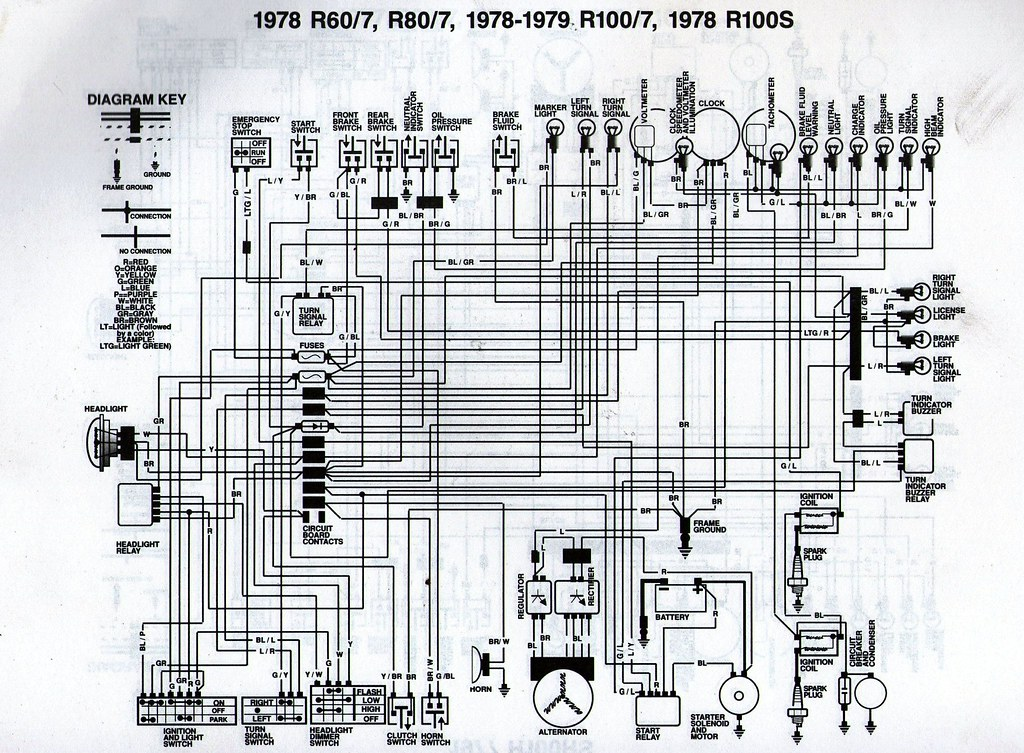 1983 bmw 528i wiring diagram 1978 bmw r80/7 wiring diagram | scanned from a workshop ... #2