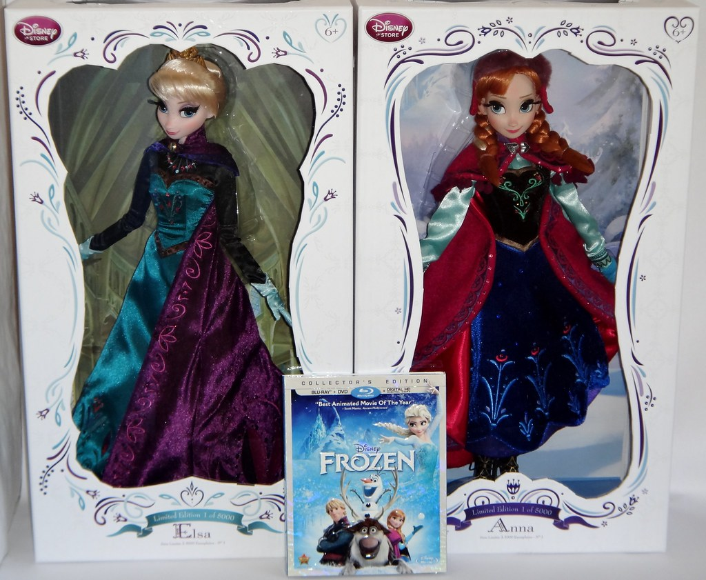 Pre Ordered Elsa And Anna Limited Edition Dolls 2014 And