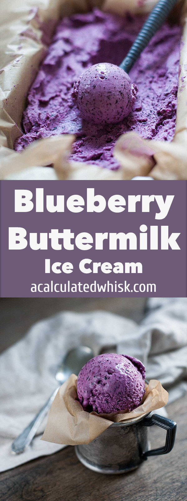 Blueberry Buttermilk Ice Cream | acalculatedwhisk.com @beckywink