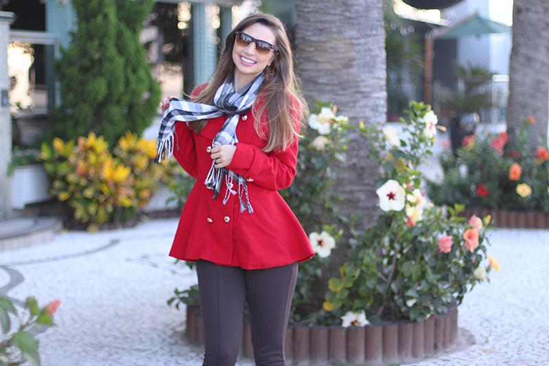 6-look do dia para o frio com casaco vermelho
