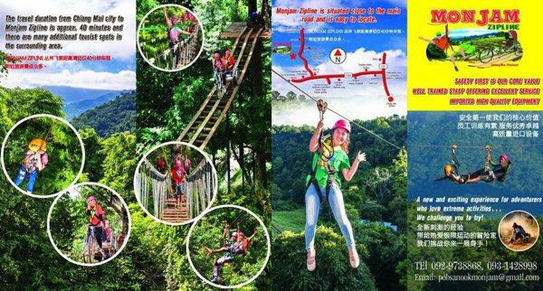 Brochure Monjam Zipline Adventure Chiang Mai Thailand 1