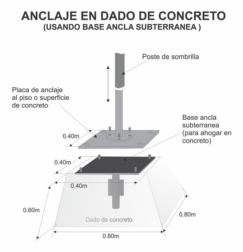 Anclaje en dado de concreto usando ancla subterranea flickr - Como hacer un suelo de hormigon ...