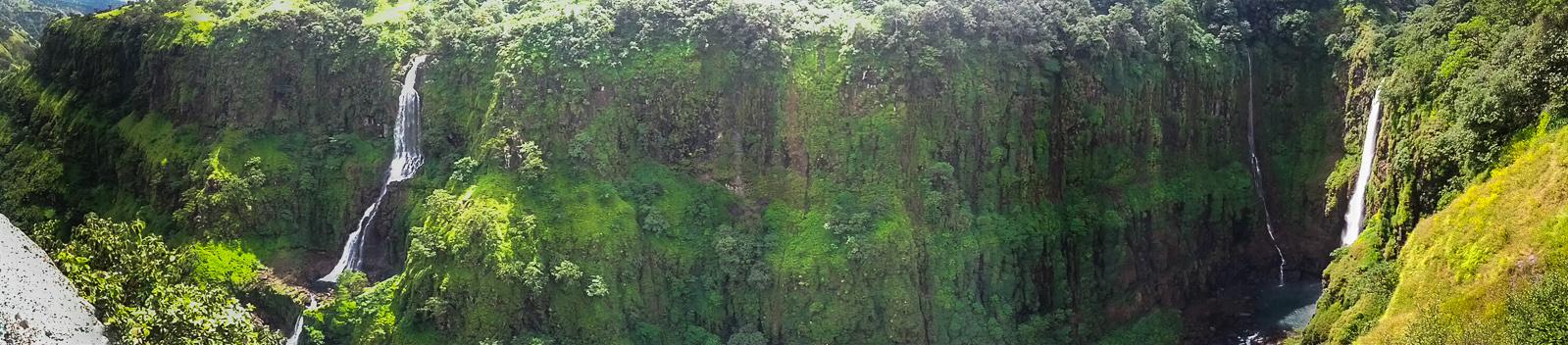 Thoseghar Waterfalls, Maharashtra (Panorama)