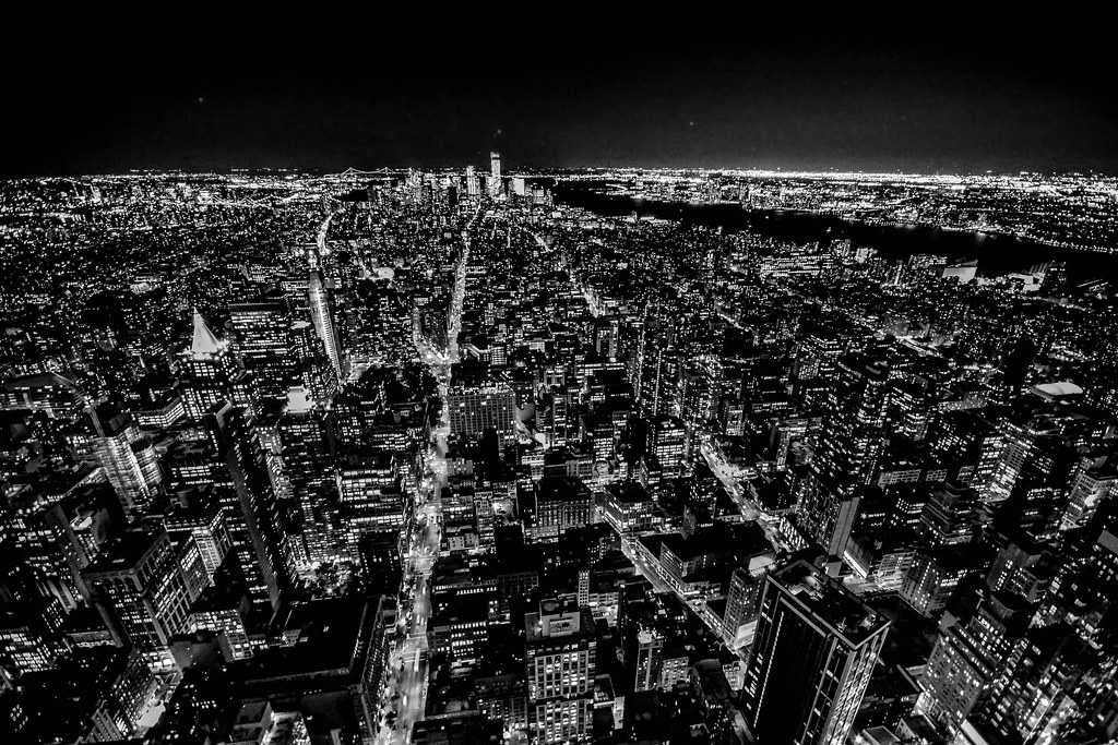 new york skyline at night new york skylinNew York Skyline At Night Black And White