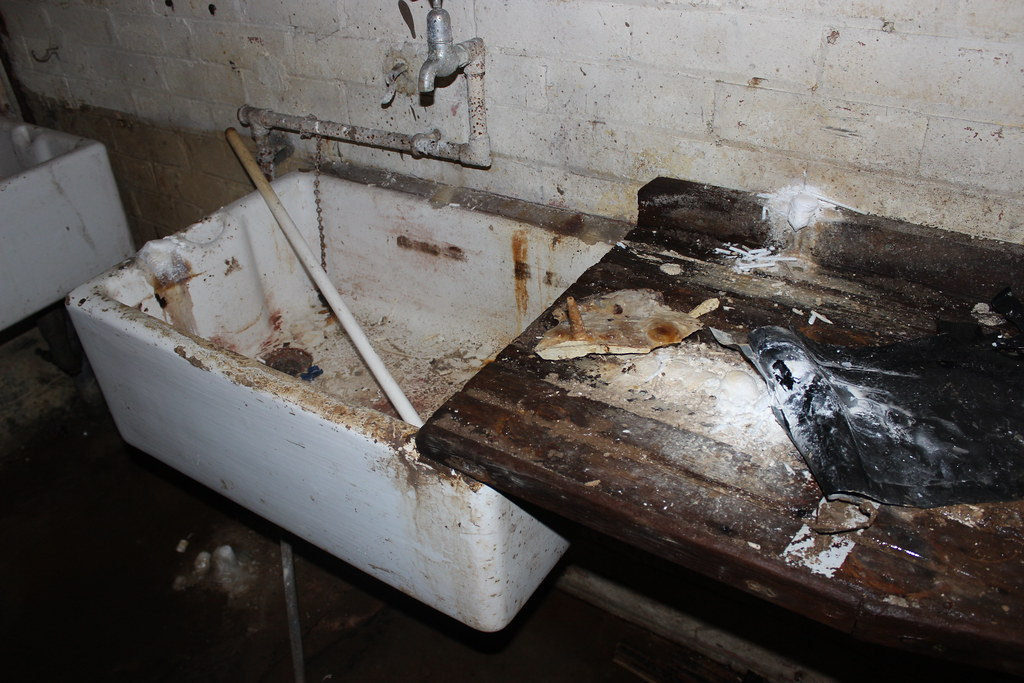 Butler Sink And Wooden Draining Board World War Two