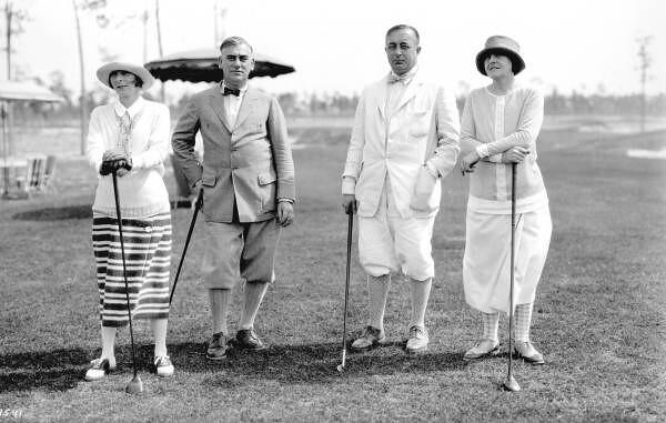 Golfers At The Miami Biltmore Golf Club Persistent Url