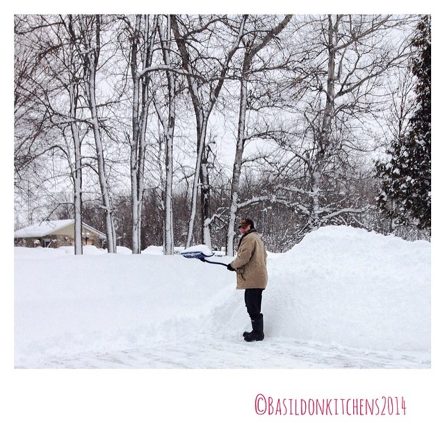 7/2/2014 - candid {watching the plow approach} ...and more on the way! #photoaday #winter #weather #snow #wind #shovelling #whenwillitend #princeedwardcounty