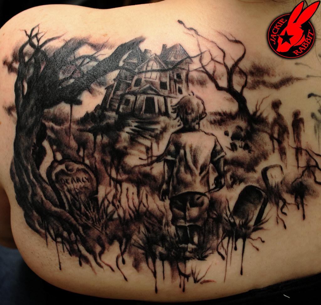 neal gaiman tattoo by jackie rabbit custom tattoo by jacki flickr. Black Bedroom Furniture Sets. Home Design Ideas