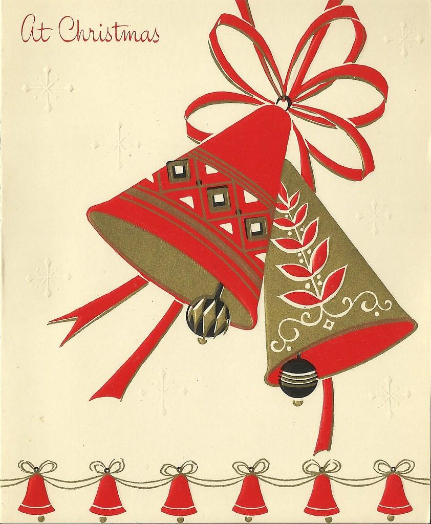 At Christmas Bells Vintage Christmas Card 1965