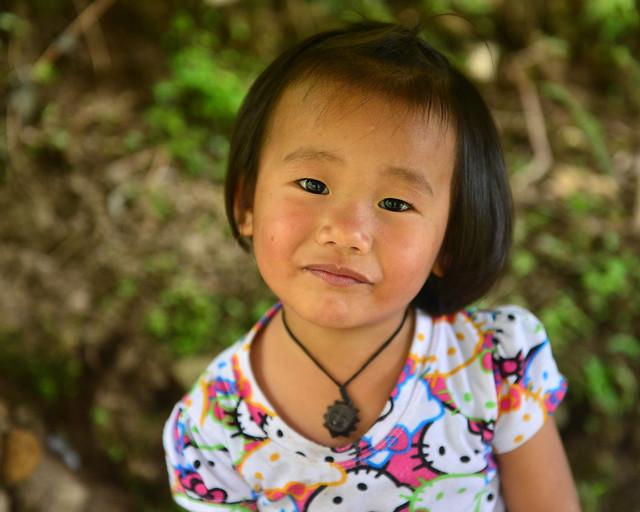 Uno de los niños de Batad, con su carita sonriente