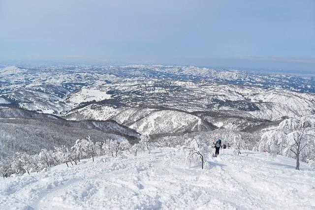 守門岳登山道からの展望