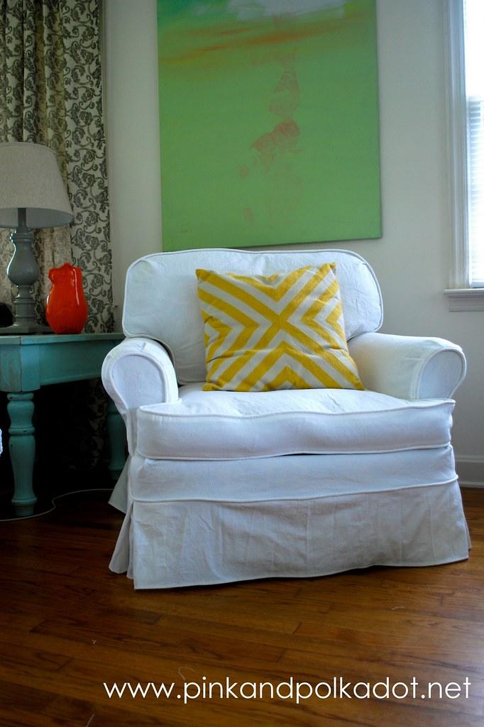 white club chair slipcover white slipcover the slipcover girl flickr. Black Bedroom Furniture Sets. Home Design Ideas