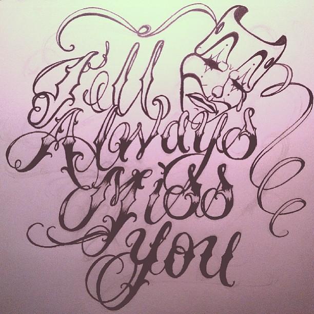 """I'll always miss you"" #cursive #fonts #handstyles #tattoo"