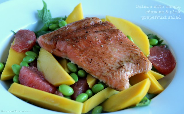 Salmon with mango, edamame & pink grapefruit salad 1.jpg