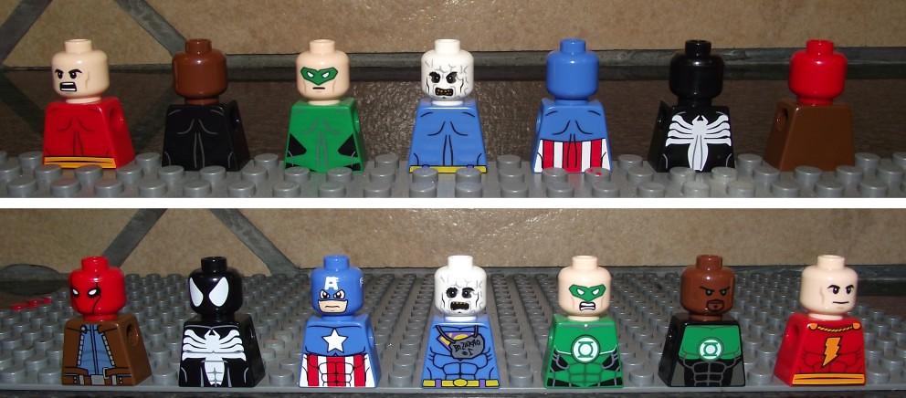 Lego Red Hood, Secret Wars Spiderman, Captain America, Biz ...