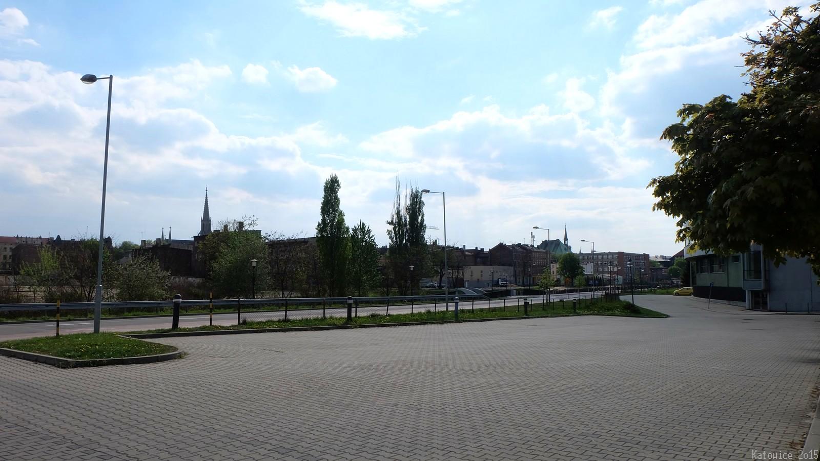 View on Old Town, Katowice, Polska