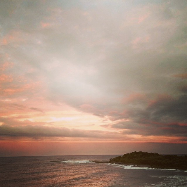 Yamba at sunset. #beach #sunandfun #lightstalking #clouds #landscape