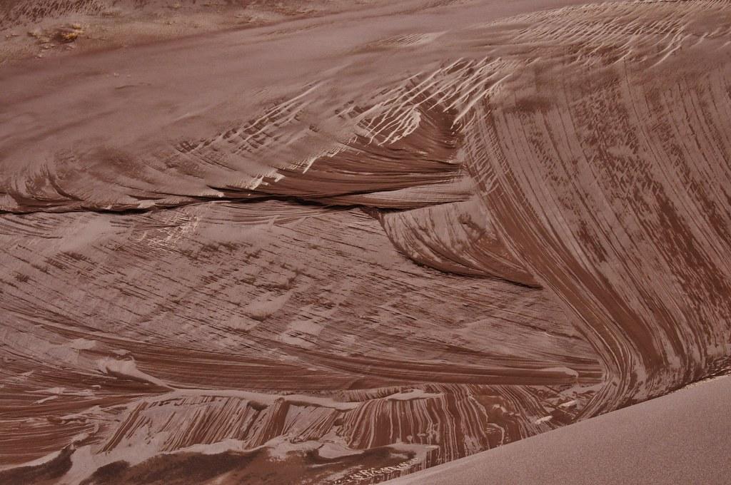 Wet Sand Pattern Great Sand Dunes National Park Patterns I Flickr