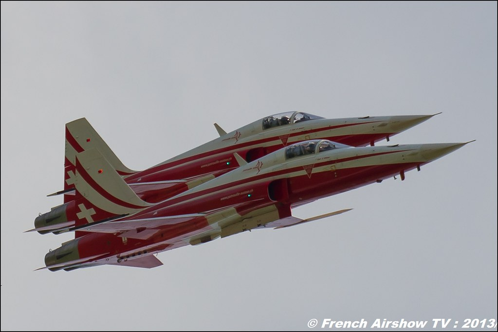 Patrouille Suisse aerobatic display team , Airpower13