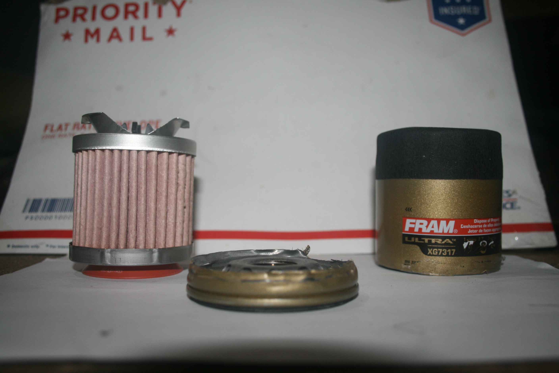 Fram ultra synthetic oil filter cut open