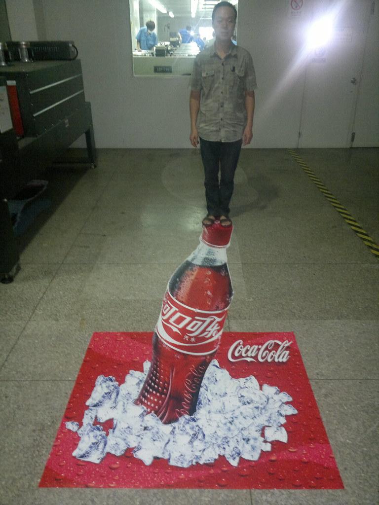 Coca Cola 3d Design 3d Floor Sticker Design We Design 3d
