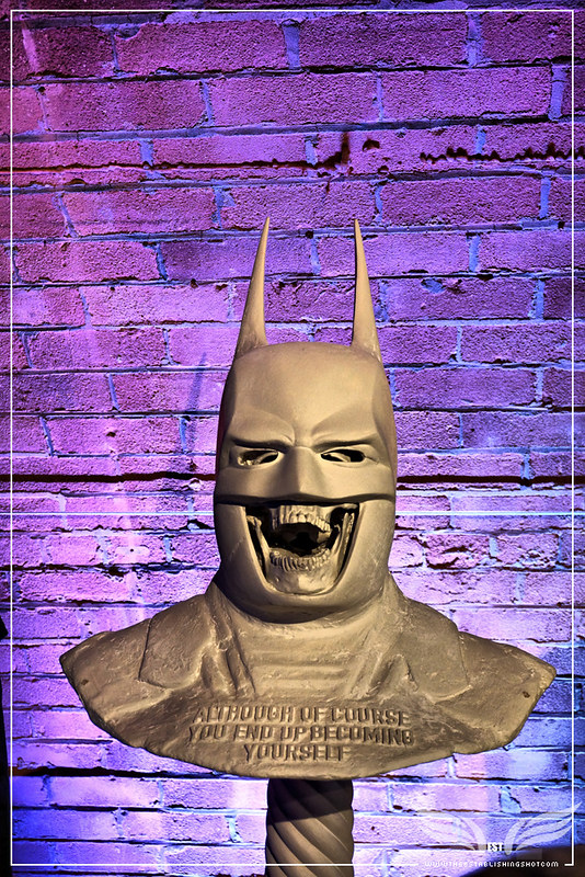 The Establishing Shot: BATMAN: ARKHAM KNIGHT CAPE & COWL EXHIBITION - BECOMING YOURSELF BUST BY THE CONNOR BROTHERS - KACHETTE, LONDON