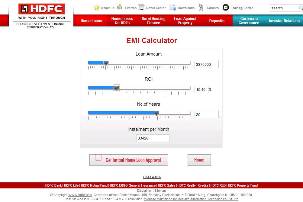 Home Loan Calculator With Pmi